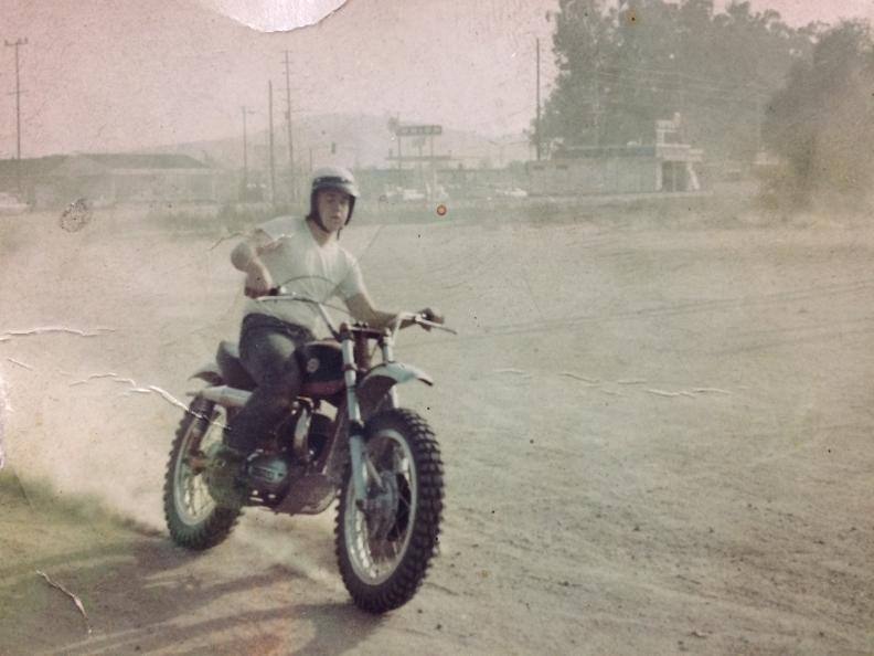 10TH GRADE OF HIGHSCHOOL 1970 ON MY BUDDY VINCES 1967 BULTACO MATADOR GEE DID I THINK WAS FAST LATER WOULD BUY OWN 1964 SHERPA 200